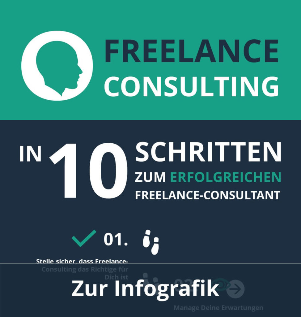 Freelance-Consulting Infografik: In 10 Schritten zum Freelance-Berater [PDF] consultingheads blog consultingheadlines